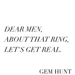 5 tips on how to buy an engagement ring, GEM HUNT